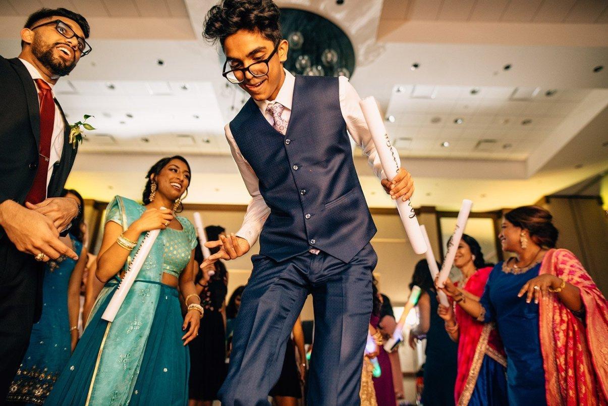 wedding guest dancing at woodlands resort