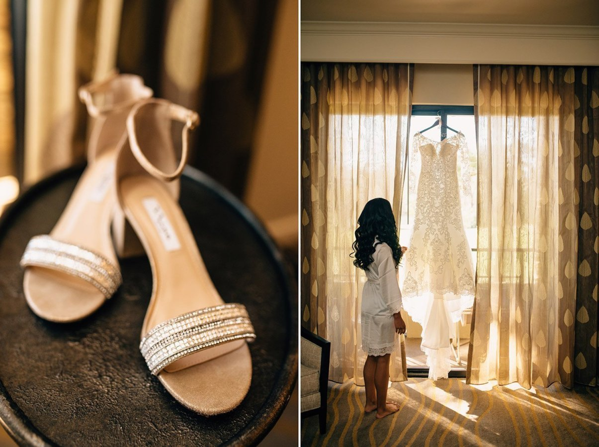 shoe and dress details