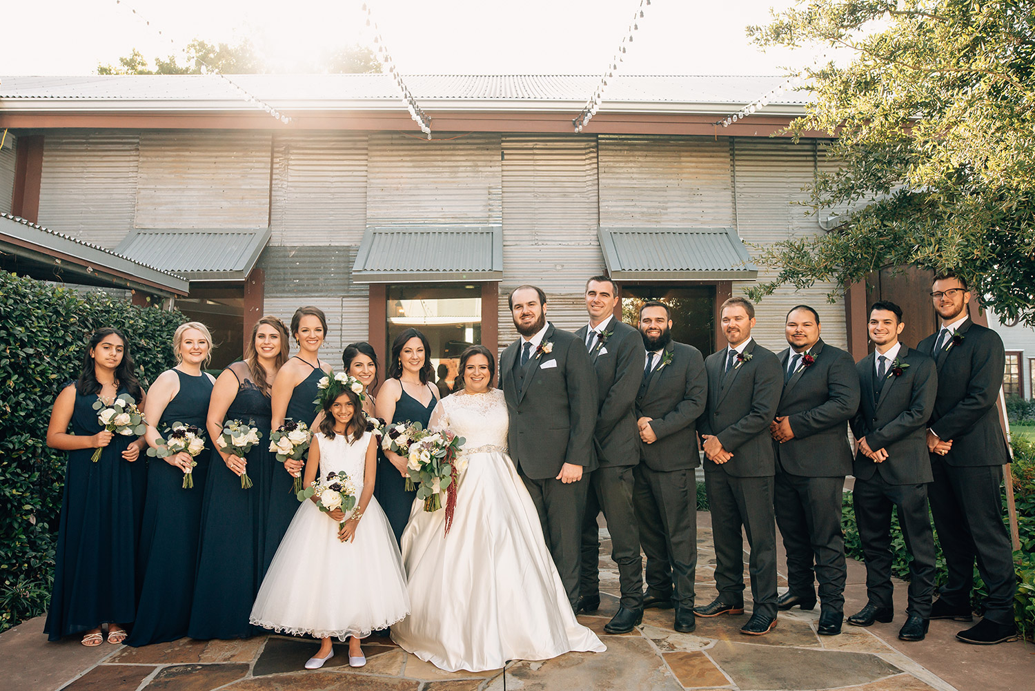 wedding party at Cotton Gin No. 116