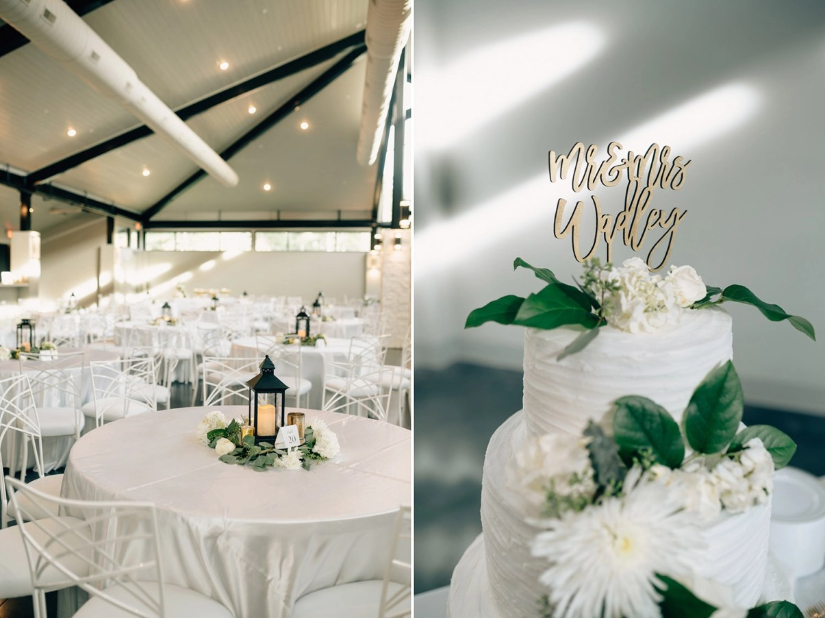 simple and elegant details for wedding at jennings trace