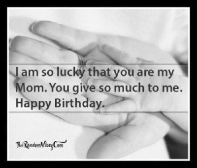 Classic Happy Birthday Mom Quote from Kids Images