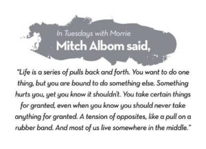 Mitch Albom Tuesdays with Morrie Quotes