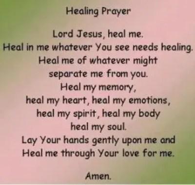Healing Prayer Quotes