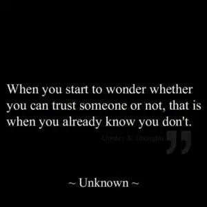 Trust no one quotes Instagram