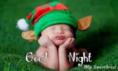 Beautiful cute baby wishing good night
