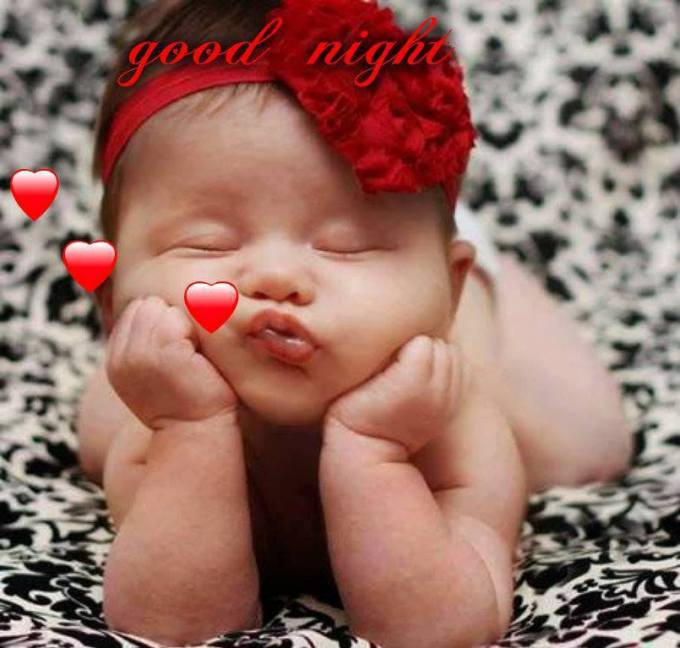 Gud Night Pic With Cute Baby 123 Free Good Night Photos Images