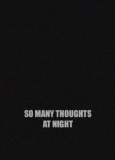 Thoughts I Can't SLeep Quote