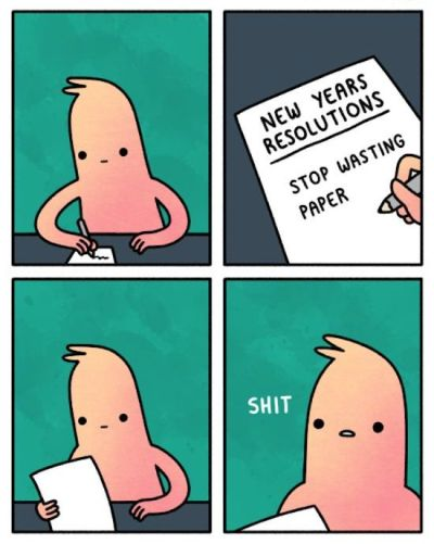 Funny New Year's Resolution Cartoon
