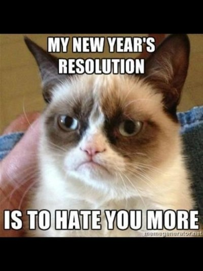 Grumpy Cat New Year's Resolution