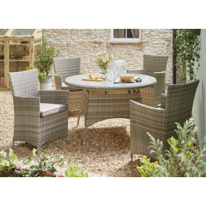 rattan garden dining chairs uk wunda chair accessories sets the range madrid five piece set grey