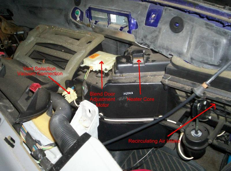 2002 ford escape radio wiring diagram o2 phase heater blend door repair on the 1993-1997 ranger