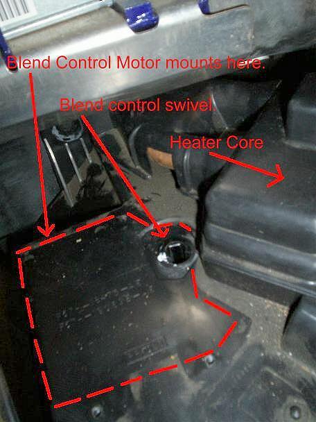 Xl 4x4 Fuse Box Heater Blend Door Repair On The 1993 1997 Ford Ranger