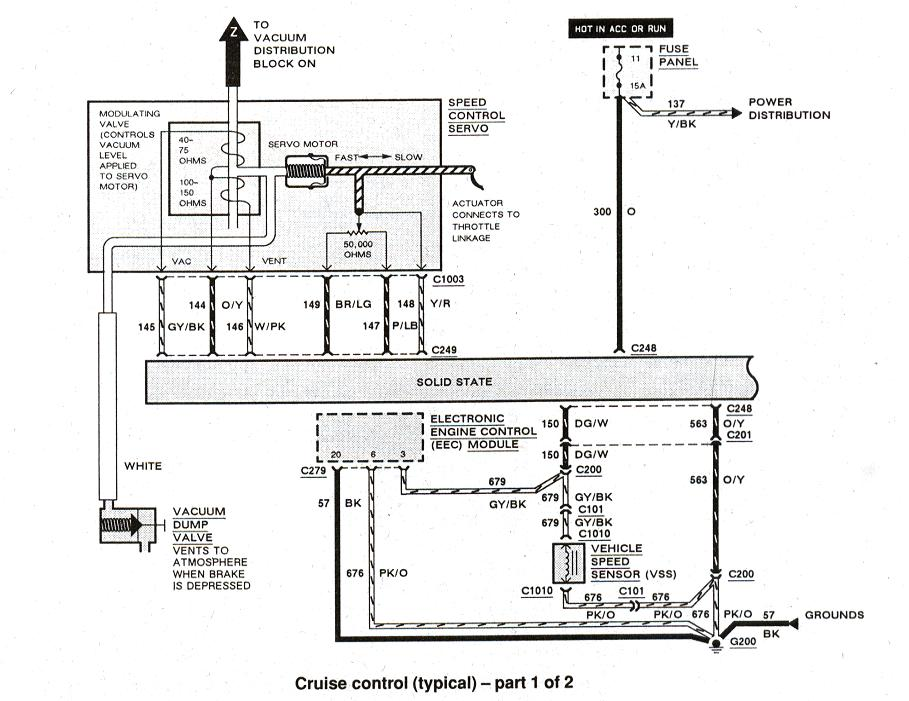 1989 Ford Bronco Steering Column Diagram, 1989, Free