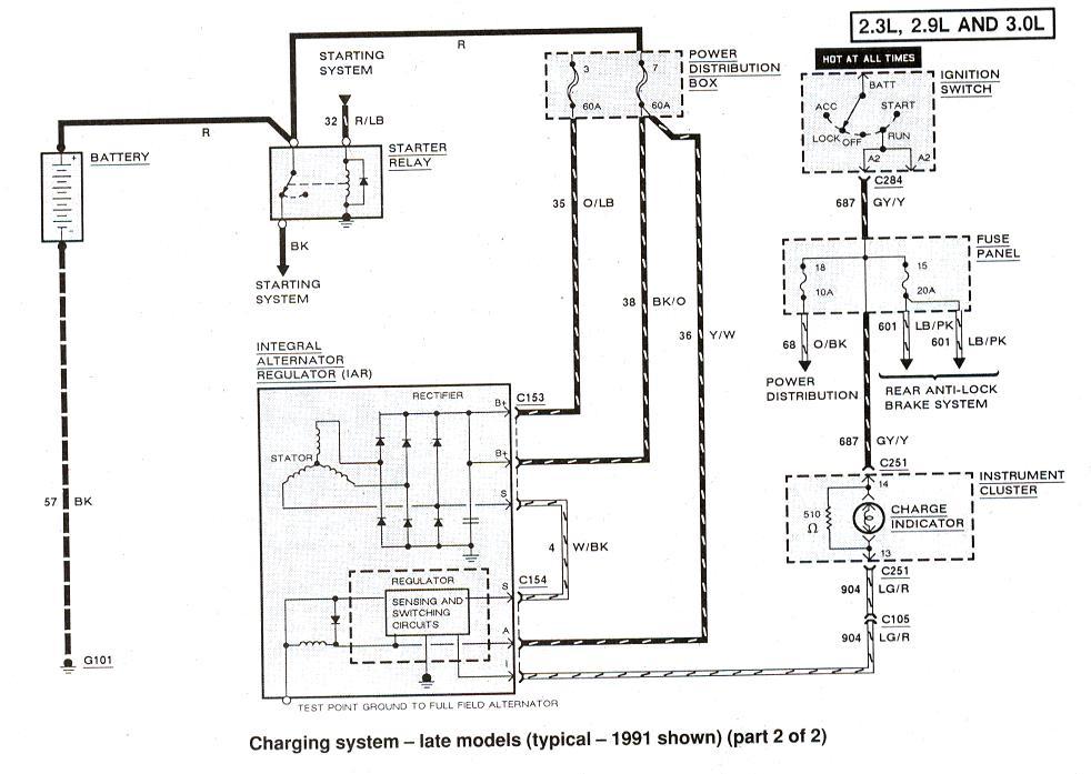 91 D150 Wiring Charging Dodge Alternator Wiring Diagram ... Ram D Wiring Diagram For on