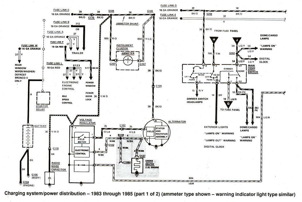 85 bronco alternator wiring diagram