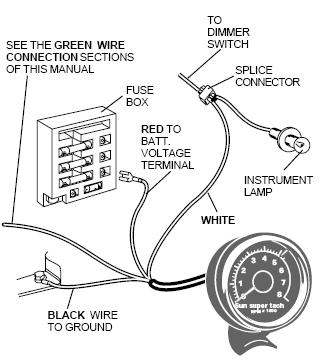 Wiring Diagram For An Autogage Tach powerkingco