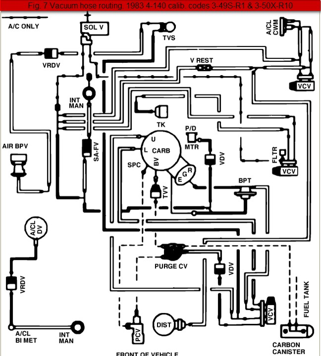 Ford Ranger Engine Vacuum Hose Diagrams : The Ranger Station