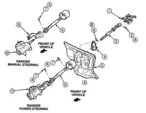 Ford Ranger intermediate steering shaft