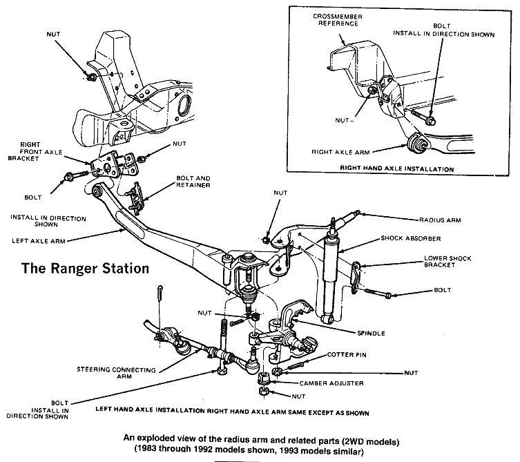 1992 ford explorer wiring diagram jeep wrangler tj subwoofer the ranger front suspension