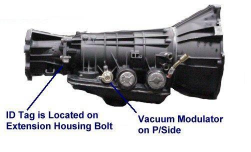 Ford E40d Automatic Transmission Identification
