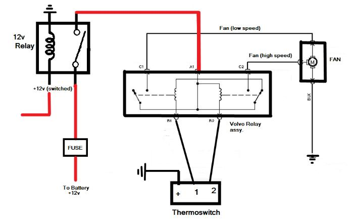 12 volt fan relay wiring diagram moreover electric radiator cooling