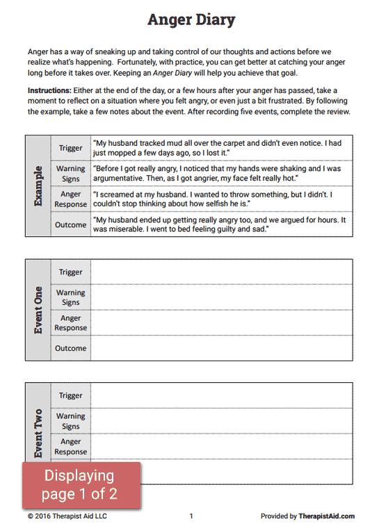 All Worksheets  Anger Management Worksheets For Children