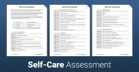 Self Care Worksheet - Checks Worksheet