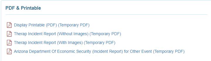 Incident Reporting - Arizona