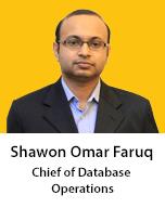 Meet Shawon, A S M Omar Faruq, Chief of Database Operations