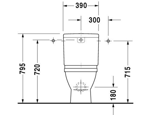 DURAVIT Starck 3 Vaso a terra monoblocco filo parete  Therapy 4 Home