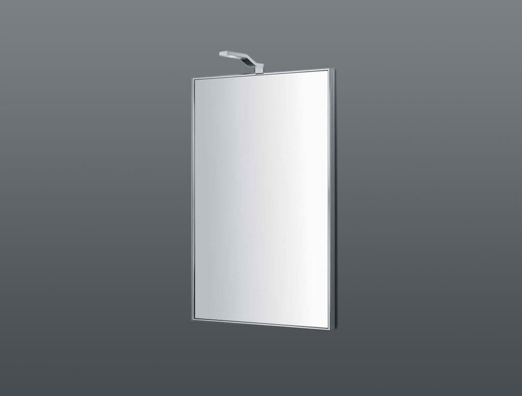 COLOMBO DESIGN Specchio verticale con cornice in acciaio