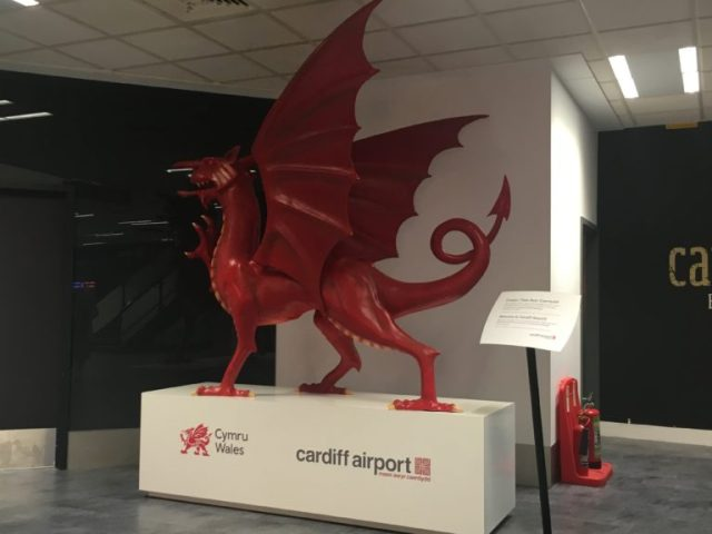 Welsh dragon at Cardiff Airpor