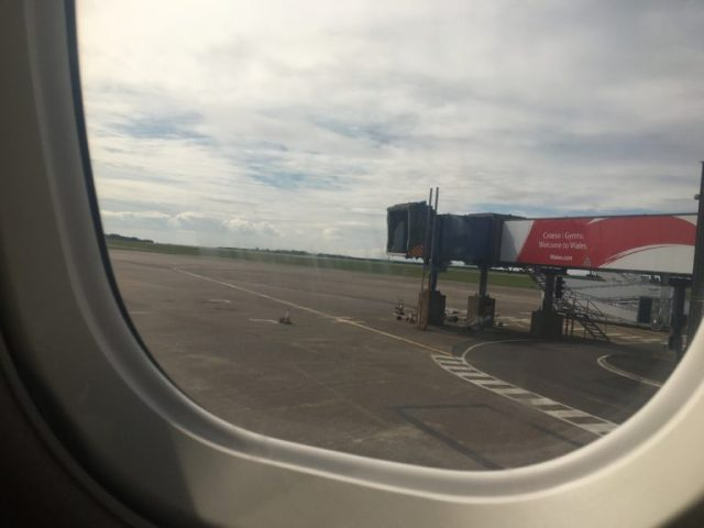 Window seat at Cardiff Airport