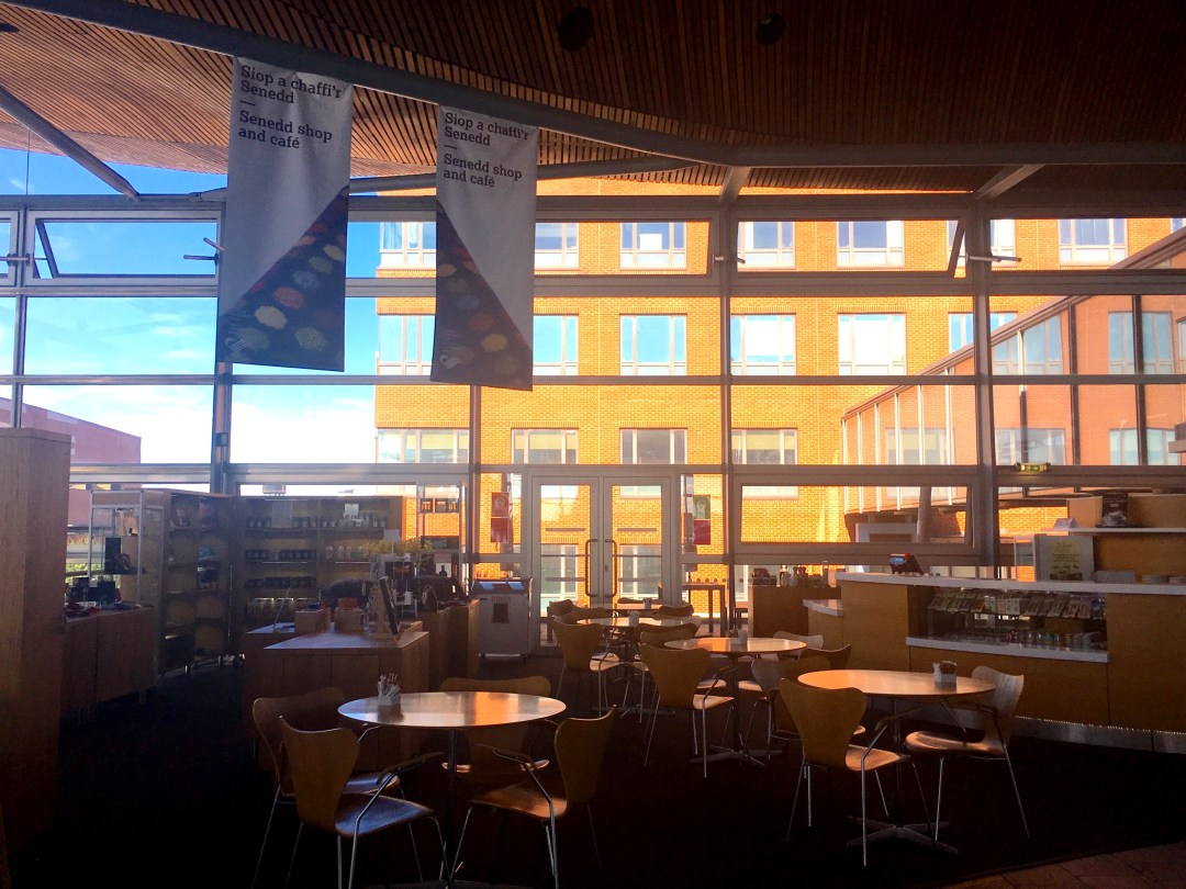 Cafe at the Senedd, National Assembly for Wales in Cardiff Bay
