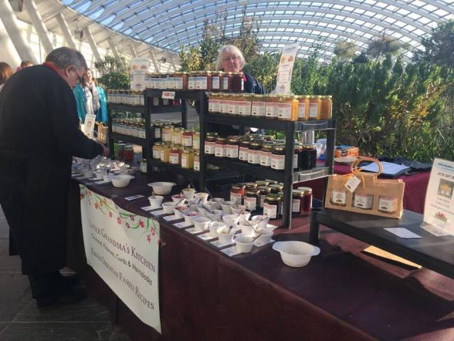Stall selling jam, chutney and preserves