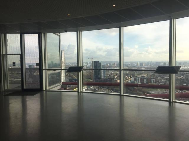 Views from Arcelormittal Orbit Slide, London