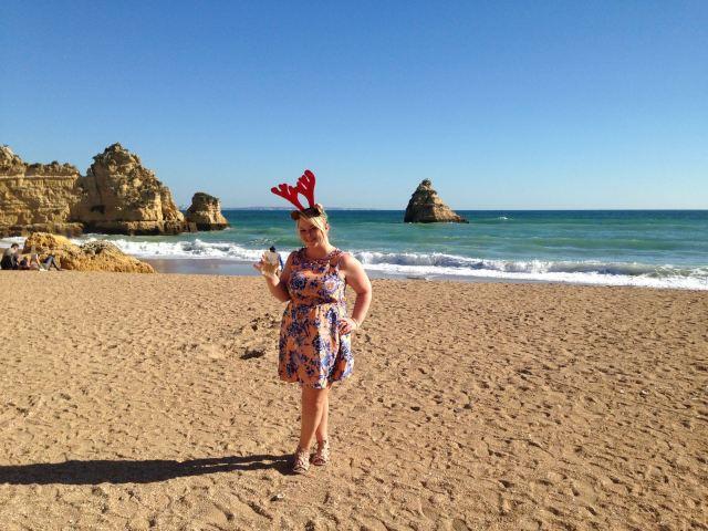 Christmas Day morning on Praia Dona Ana