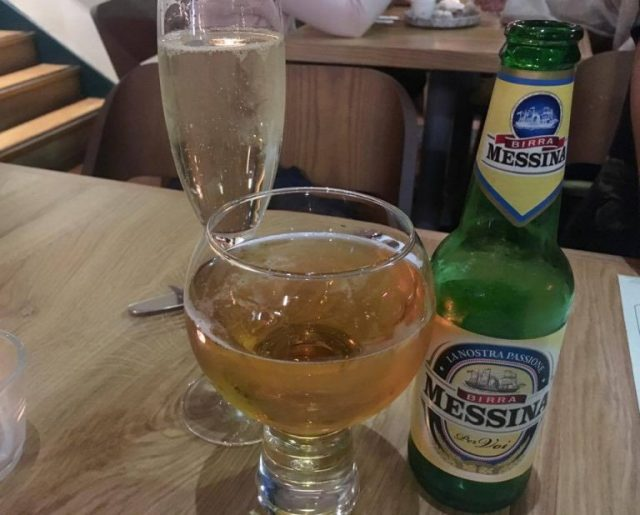 Messina Italian beer and Italian prosecco