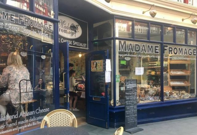 Madame Fromage French cafe/restaurant in Castle Arcade, Cardiff