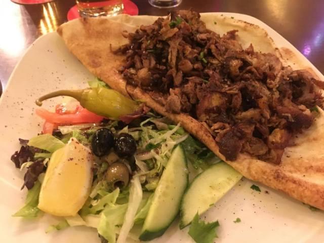 Duck shawarma