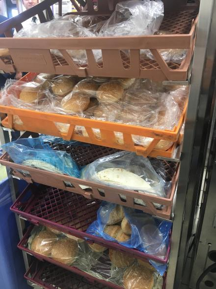 Different kinds of bread at McDonald's