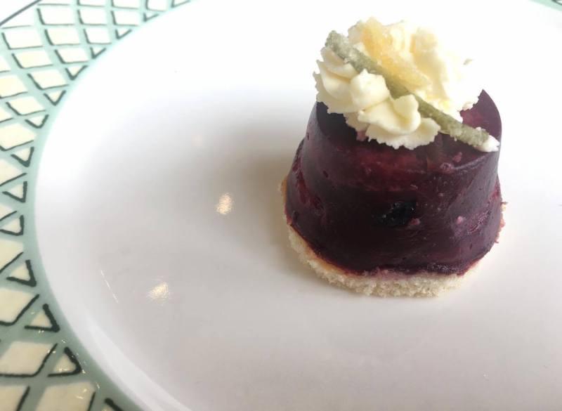 Summer berry pudding with citrus creme fraiiche