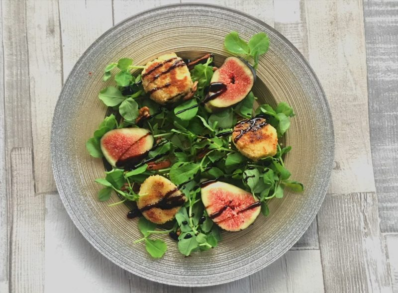 Fig and goat's cheese salad