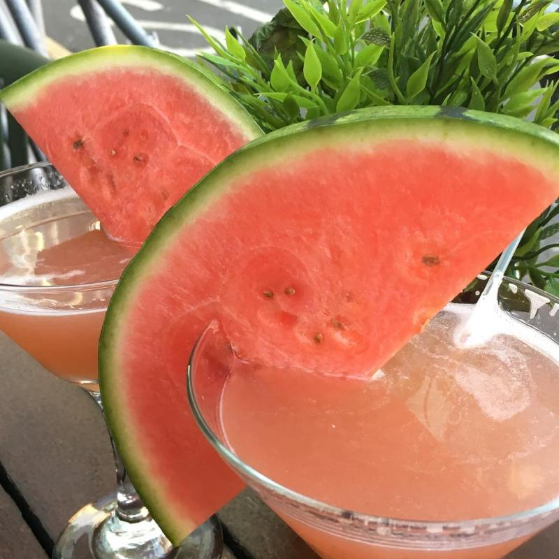 Summery watermelon cocktails, ideal for a summer party