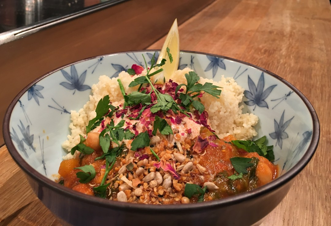 Butternut squash and chickpea stew - vegetarian food is one of the tastiest street eats you can find!