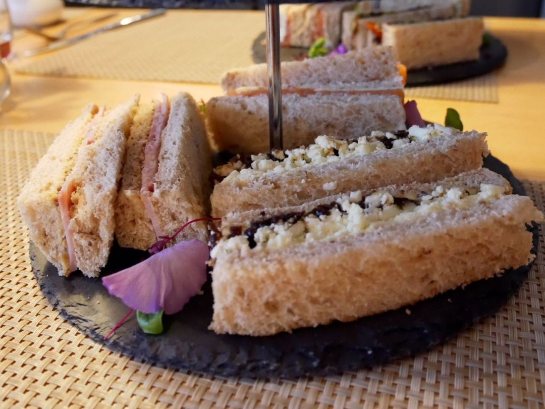 Sandwiches as part of the afternoon tea in Cardiff Bay Future Inns hotel