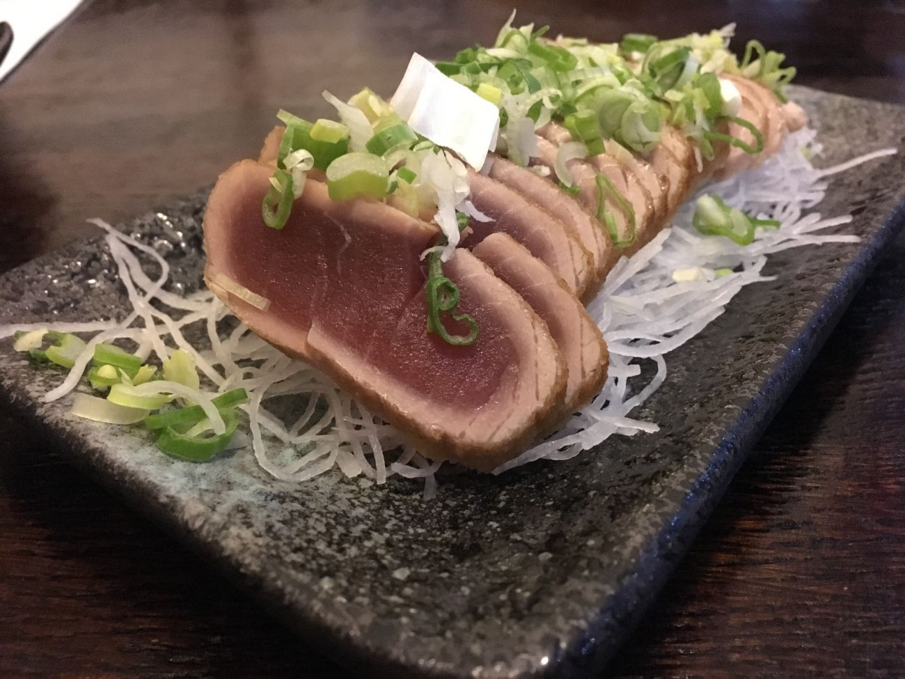 Pan-seared 'raw' tuna at Ichiban, Cardiff. You should avoid eating raw foods if you want to minimise your risk of holiday sickness.