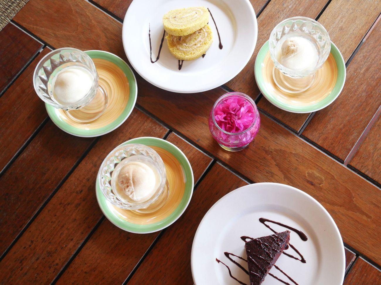 Desserts at Belmont Estate