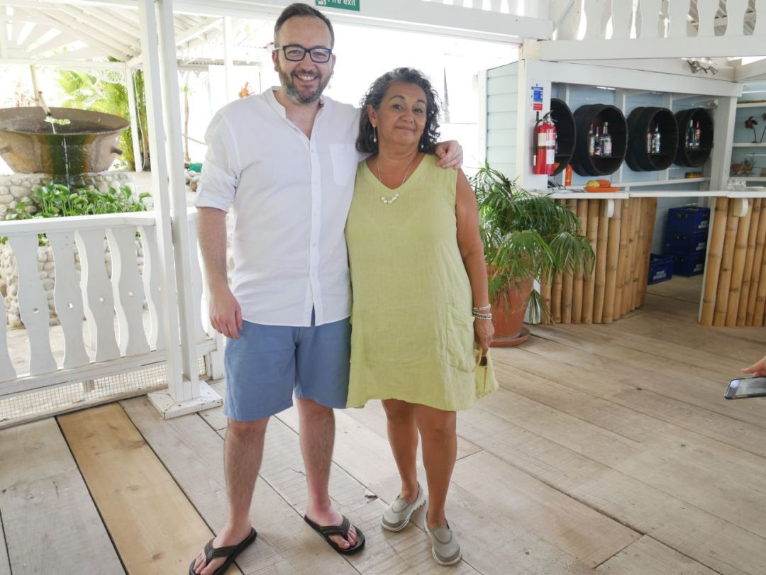 Will Torrent with Magdalena Fielden, Founder of Grenada Chocolate Festival