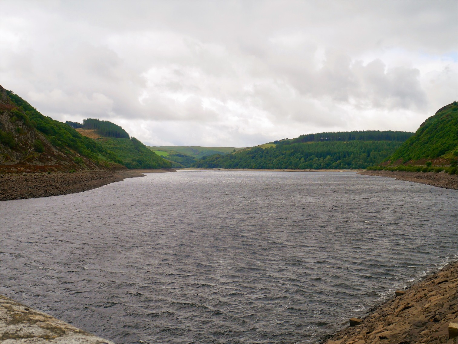 Landscape view of The Elan Valley
